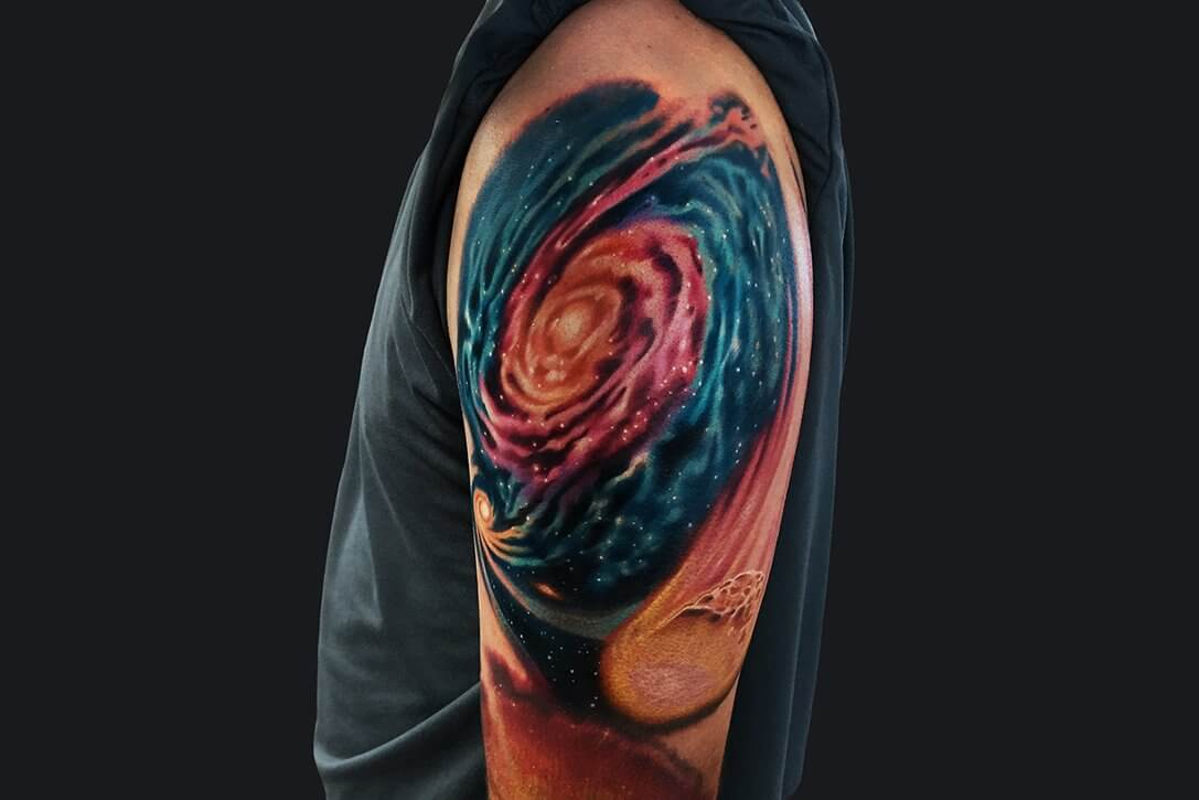 Upper Arm Half Sleeve Tattoos For Men Arm Tattoo Sites