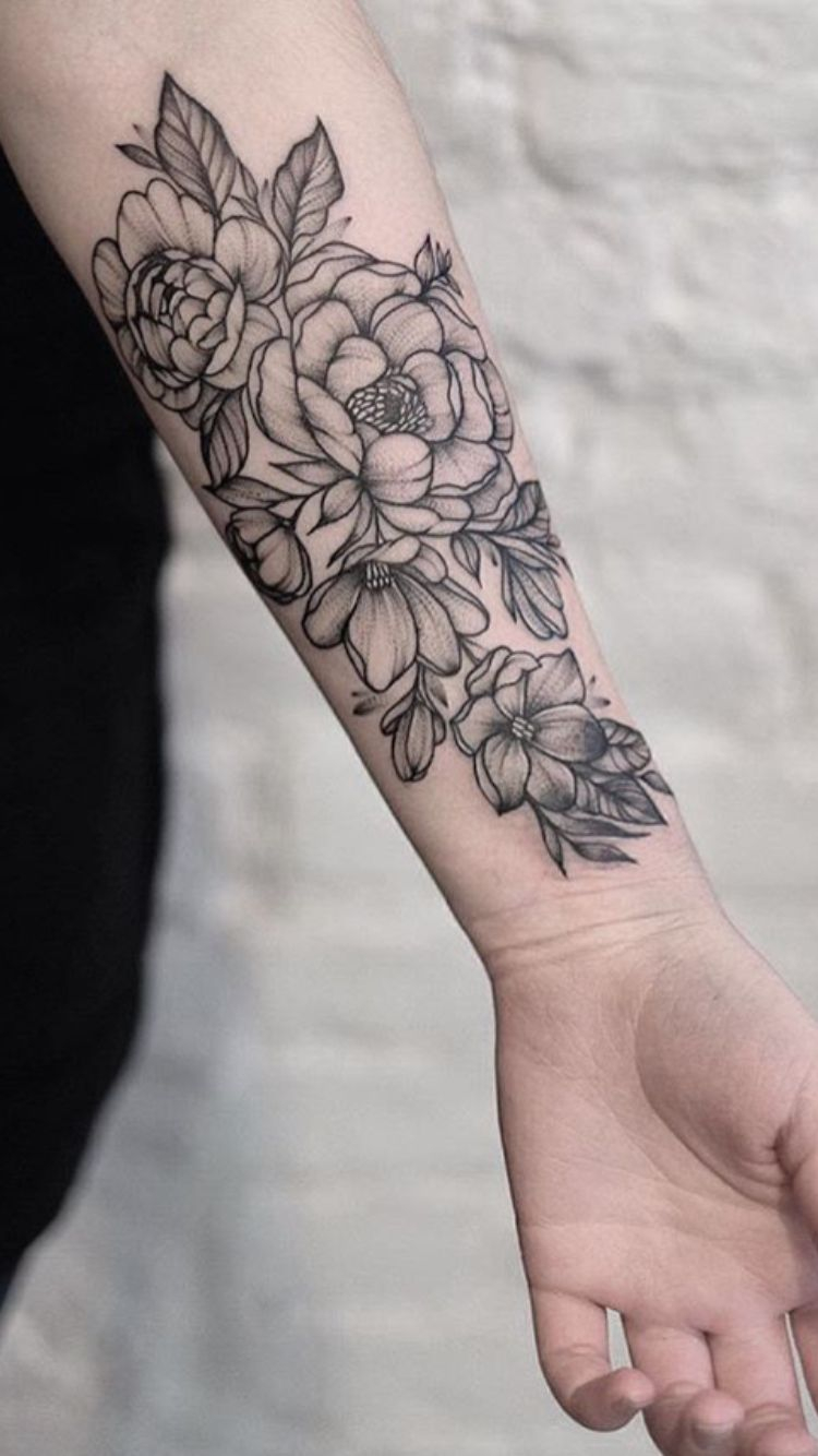 The Shading And Cluster Size And Outline Is Perfect Love Tats in size 750 X 1334