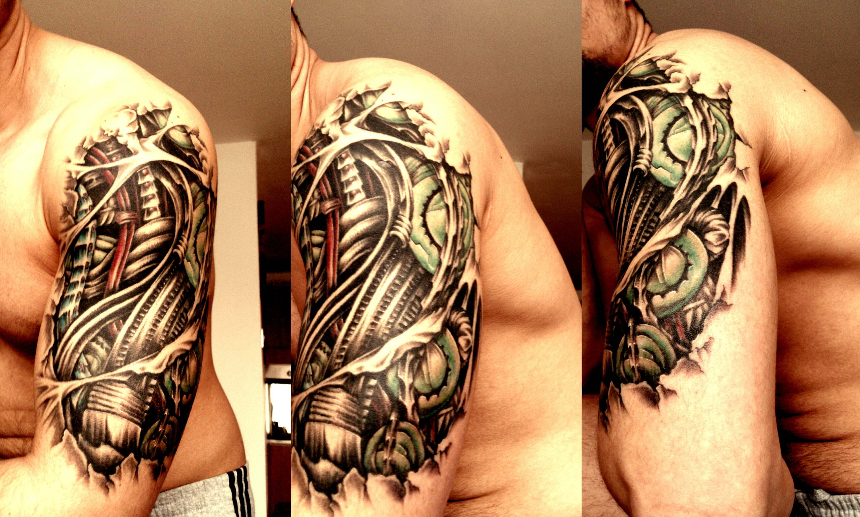 Top 80 Best Biomechanical Tattoos For Men Improb throughout size 3469 X 2085