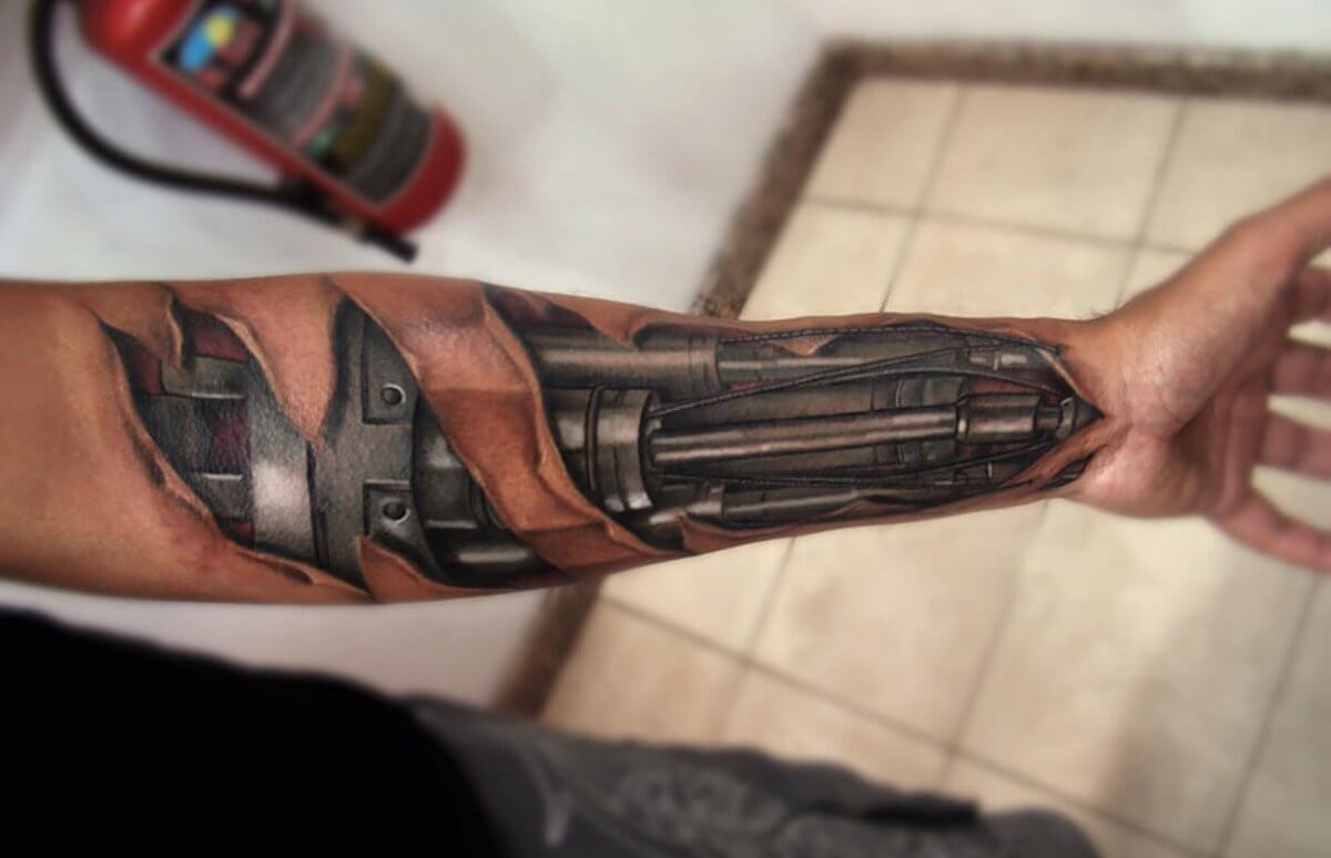 Top 80 Best Biomechanical Tattoos For Men Improb with regard to measurements 1200 X 774