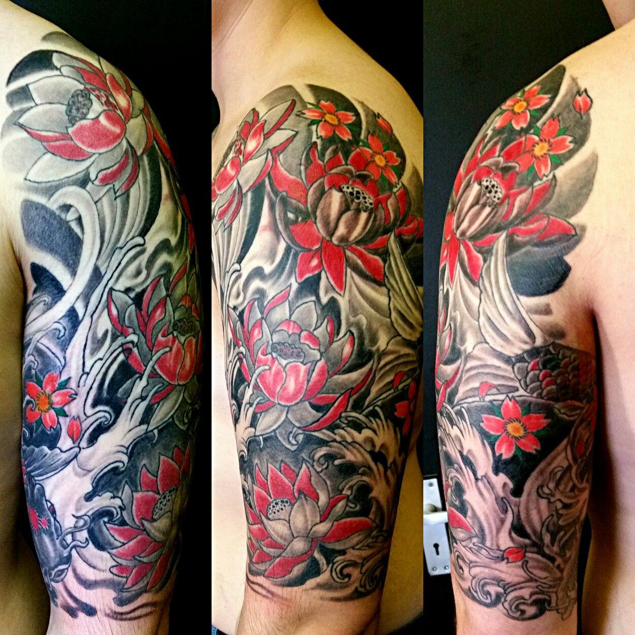 Top Arm Part Of Irezumi Traditional Japanese Half Sleeve Freehand regarding size 1250 X 1250