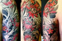 Top Arm Part Of Irezumi Traditional Japanese Half Sleeve Freehand throughout proportions 1250 X 1250