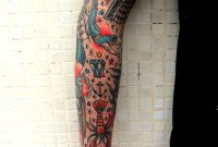 Traditional Tattoo Sleeve Tie It All Together Later With Stars pertaining to measurements 1280 X 1850