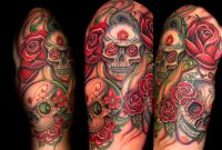 Trent Edwards Skull And Roses Half Sleeveplacement Armcomments with dimensions 1200 X 857