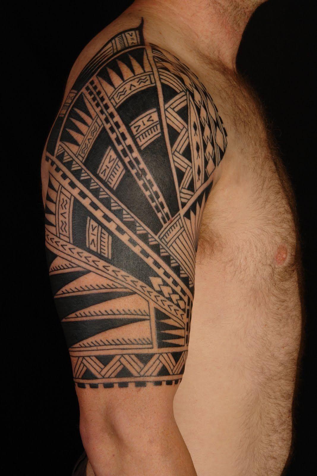 Tribal Aztec Tattoo Designs Tribal Arm Half Sleeve Tattoo throughout proportions 1067 X 1600