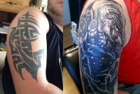 Tribal Cover Up Tattoos Killerink Coverup Blackandgrey Sleeve with proportions 2776 X 2203