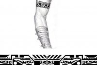 Tribal Industrial Arm Band Tattoo Thehoundofulster On Deviantart for measurements 883 X 904