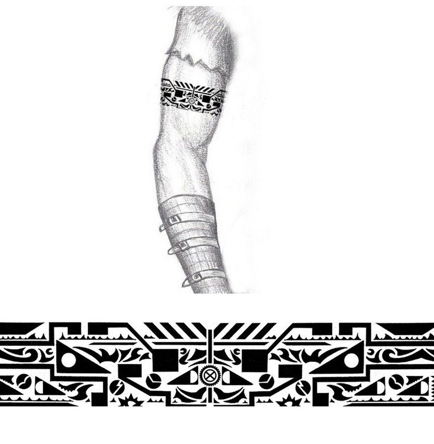 Tribal Industrial Arm Band Tattoo Thehoundofulster Tattoo pertaining to proportions 883 X 904