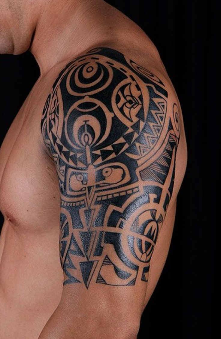Tribal Shoulder Tattoos For Guys Tattooideaslive Tattoos within dimensions 736 X 1128
