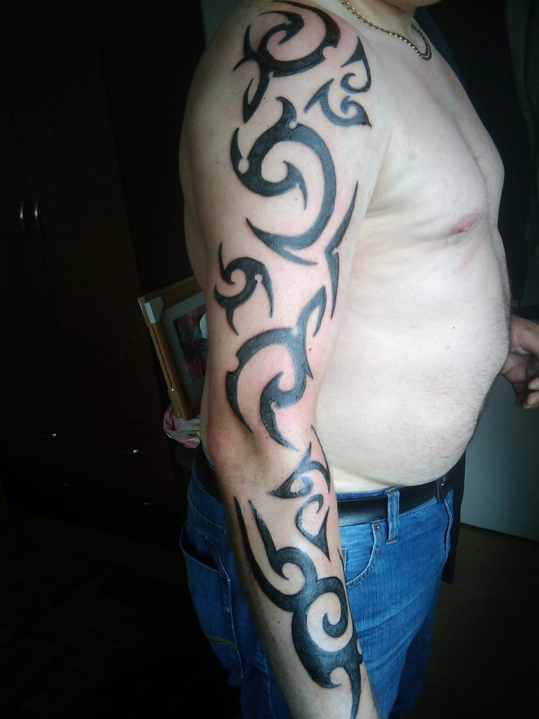 Tribal Tattoo On Arm Sleve Design For Men Tattoomagz intended for dimensions 774 X 1032