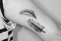 Two Feathers On The Left Inner Arm Tattoo Artist Violeta Ars in proportions 960 X 960