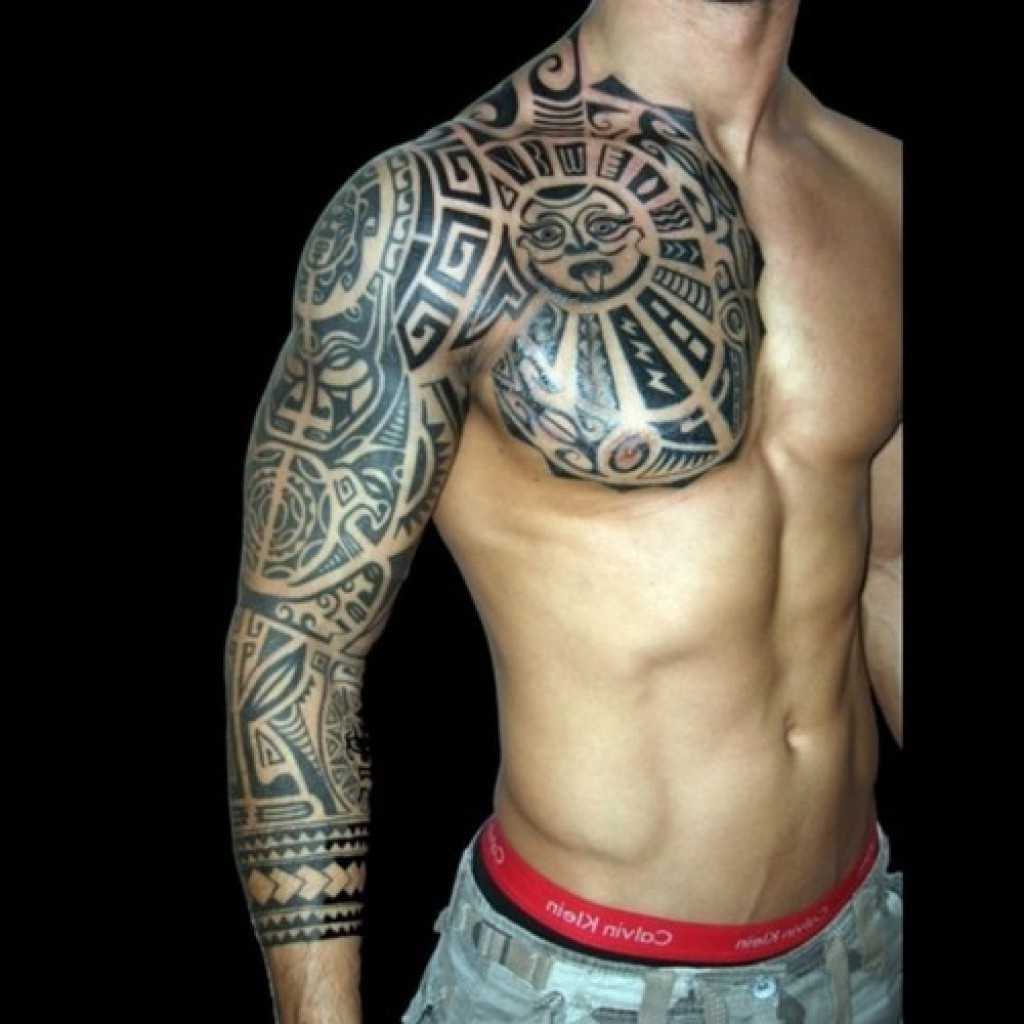 Upper Arm And Chest Tattoo Chest Arm Sleeve Tattoos Upper Arm Sleeve inside size 1024 X 1024