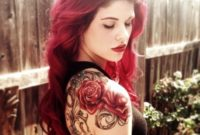 Upper Arm Rose Tattoos For Women A Collection Of Cool Tattoo Ideas intended for dimensions 1050 X 1050