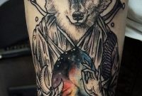 Upper Arm Tattoo Sleeve Ideas 55 Wolf Tattoo Designs Art And with proportions 600 X 1369