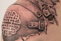 Viking Armor Tattoo On Upper Shoulder in size 920 X 1024