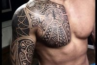Viking Tattoo On Sleeve And Chest Peter Walrus Madsen pertaining to sizing 740 X 1133