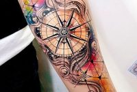 Watercolor Compass Inner Forearm Tattoo Ideas For Women Ides De with regard to size 1269 X 2047