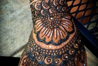 White Henna And Traditional Henna Tattoo Full Hand And Arm Floral intended for dimensions 1000 X 1535