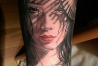 Women Arm Decorated With Cute Asian Girl Face Tattoo Tattoos pertaining to sizing 800 X 1415