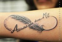 Wonderful Feather And Infinity Symbol Tattoo On Arm Sleeve For Girls with regard to proportions 1000 X 1000