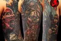 Zombie Sleeve Tattoo Jackie Rabbit Jackierabbit12 On Deviantart with regard to size 999 X 799