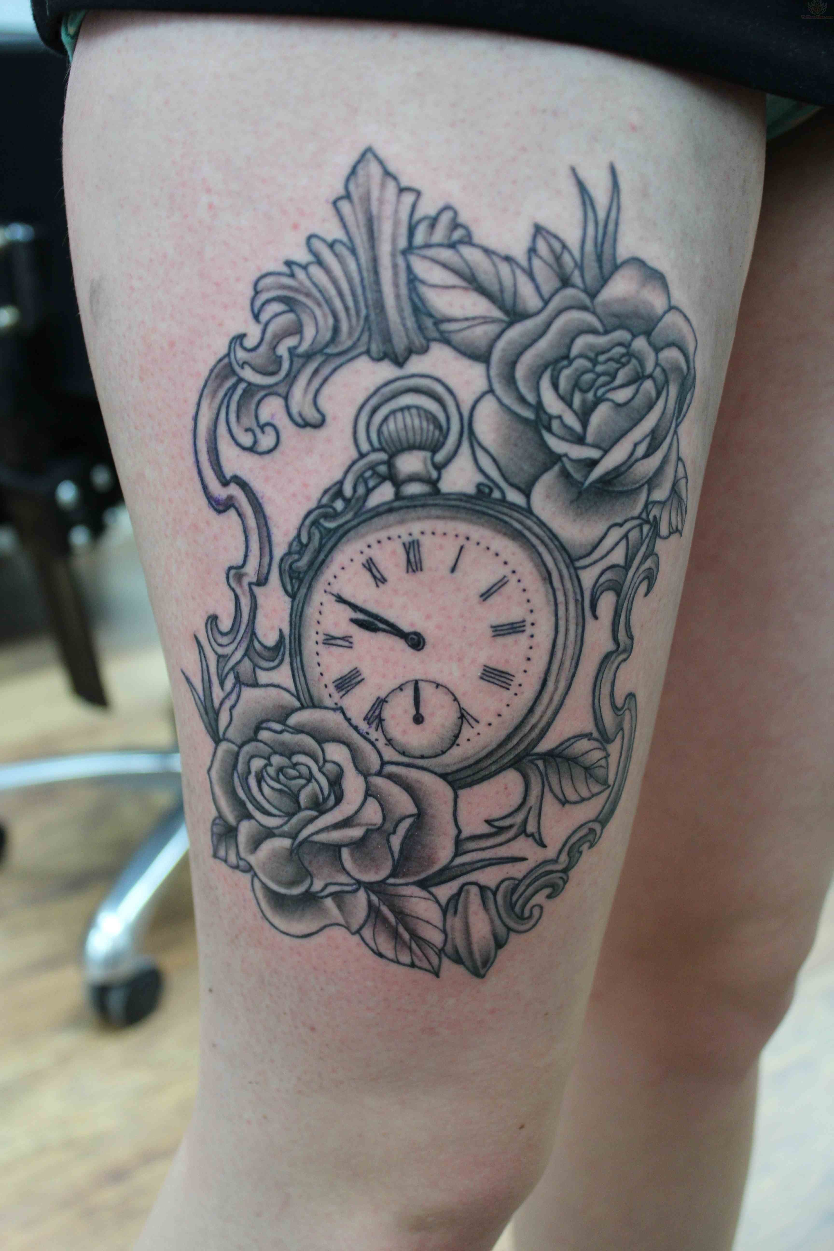 100 Unique Watch Tattoos for sizing 3456 X 5184