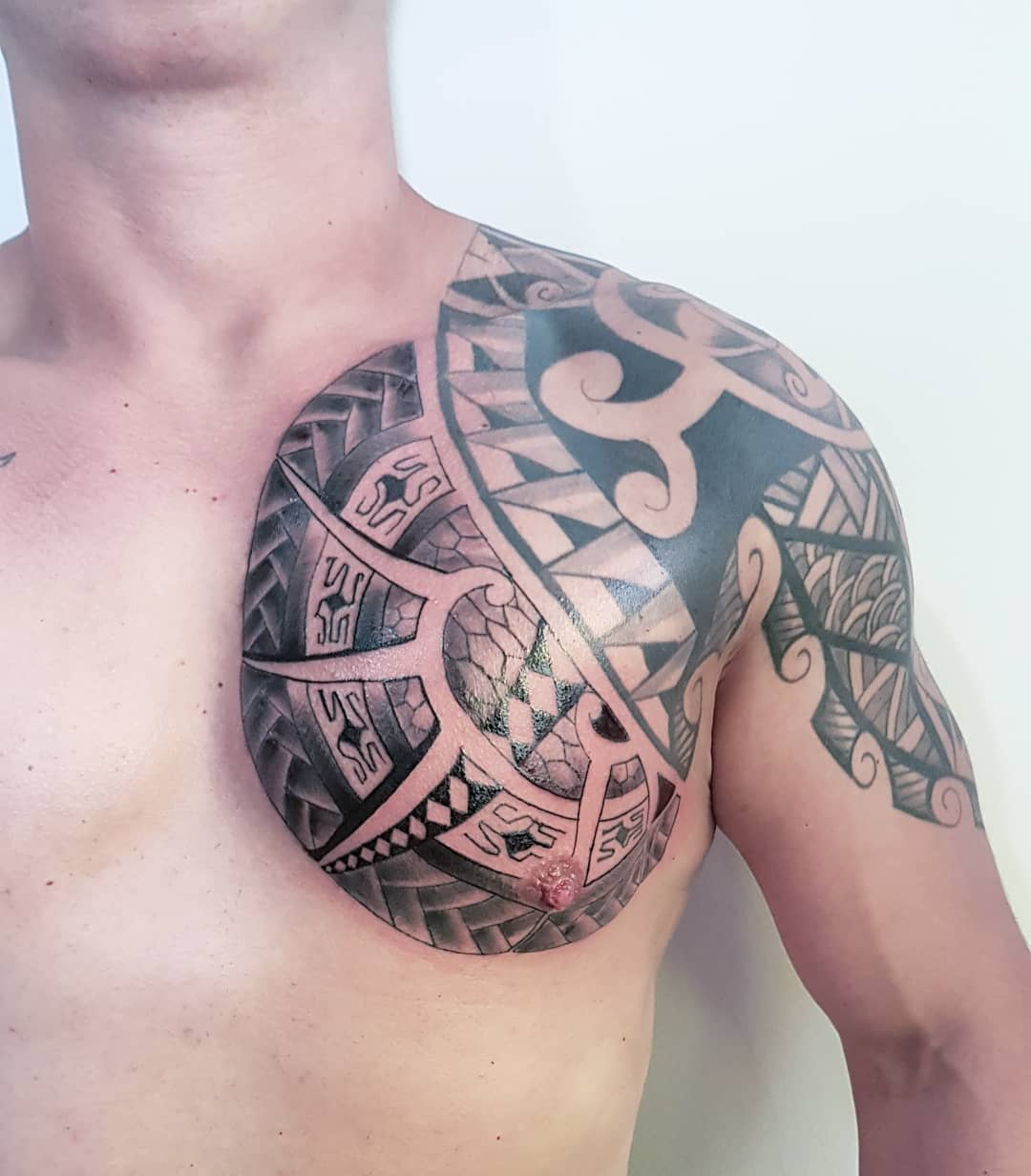 150 Chest Tattoo Themes That Make Men Look Desirable Prochronism within proportions 1080 X 1232