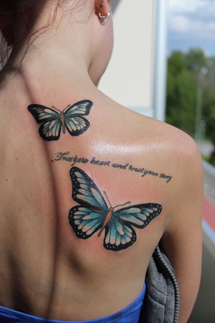 20 Cute Butterfly Tattoos On Back For Women Tattoos Butterfly throughout size 730 X 1095