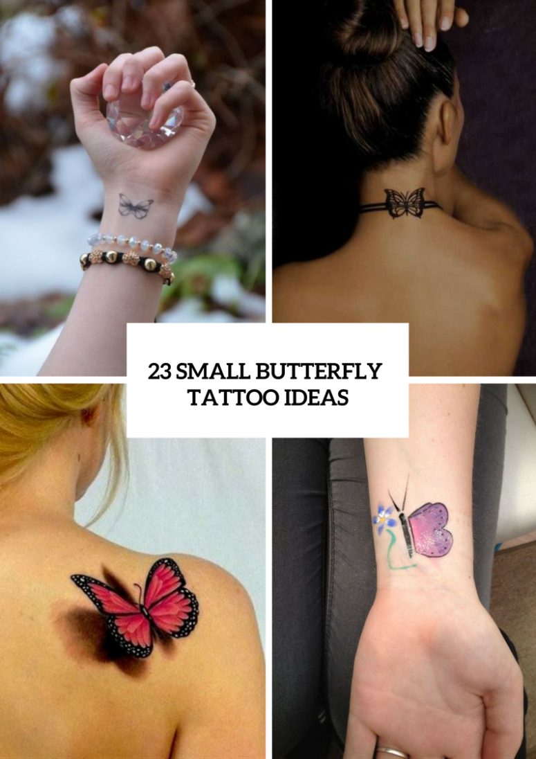 23 Adorable Small Butterfly Tattoo Ideas For Women Styleoholic throughout dimensions 775 X 1096