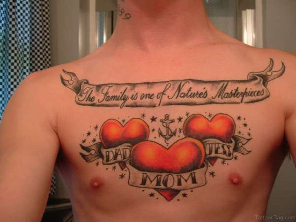 27 Family Wording Tattoos On Chest with size 1024 X 768