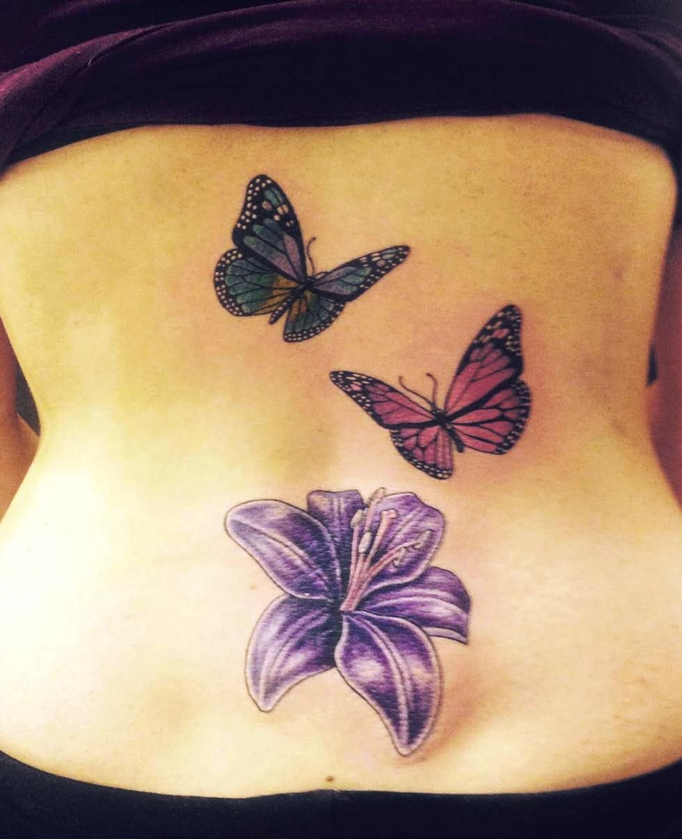 28 Awesome Butterfly Tattoos With Flowers That Nobody Will Tell You inside proportions 980 X 1204