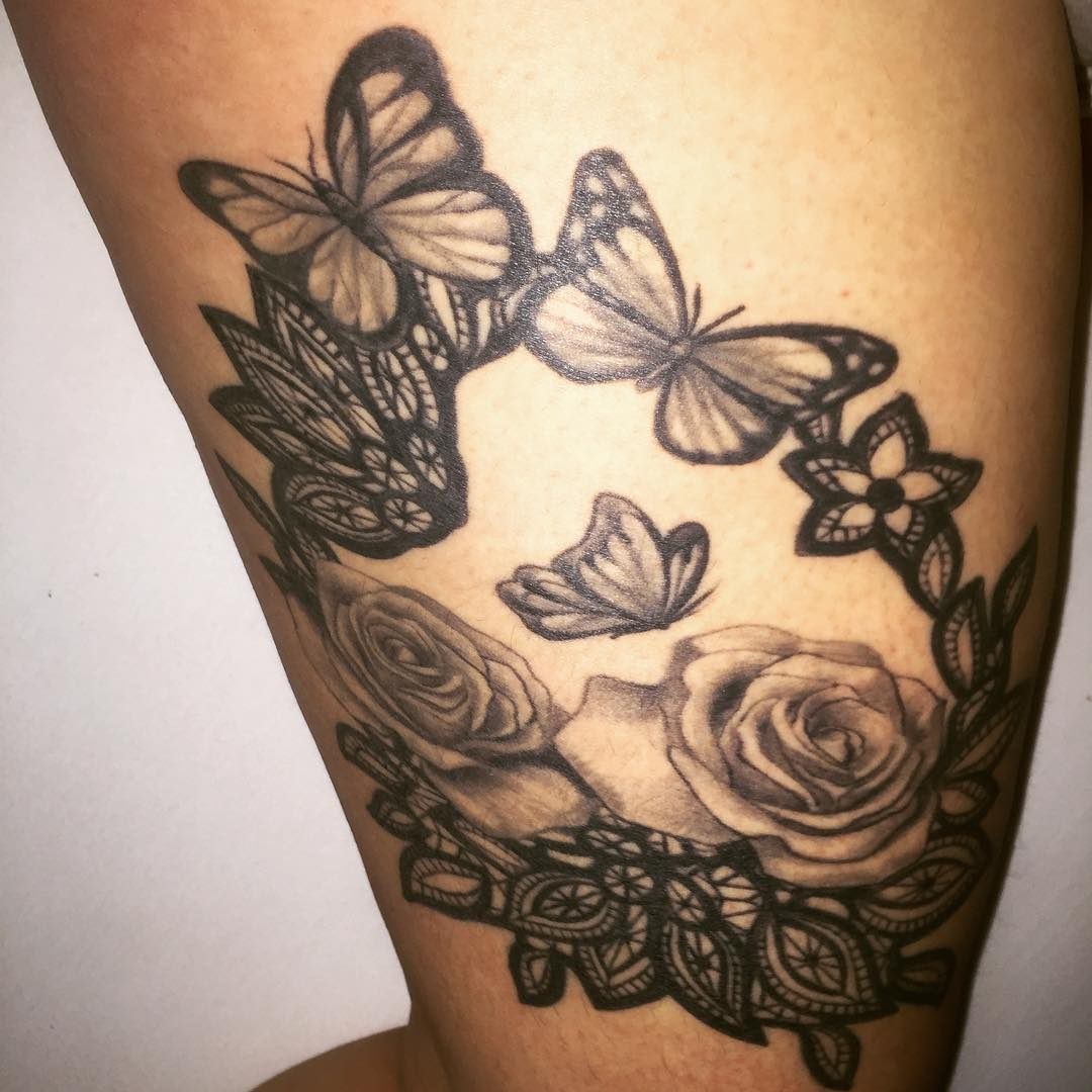 28 Awesome Butterfly Tattoos With Flowers That Nobody Will Tell You pertaining to size 1080 X 1080