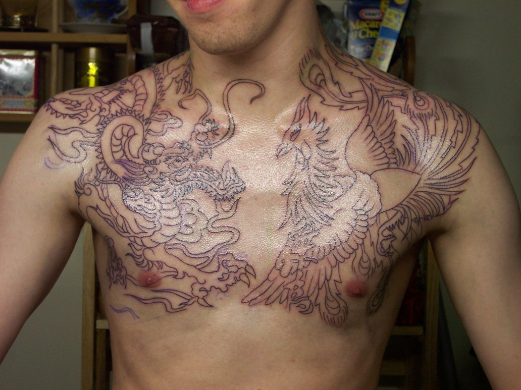 30 Best Chest Tattoos For Men intended for measurements 1032 X 773