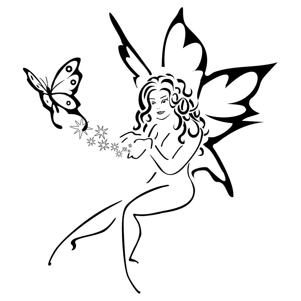 30 Fairy With Butterfly Tattoos for size 1000 X 1000