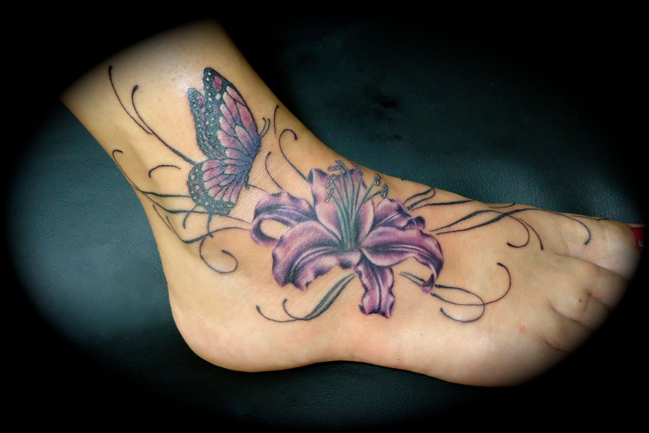 30 Lily Flower Tattoos Design Ideas For Men And Women Tattoos with regard to dimensions 1280 X 854