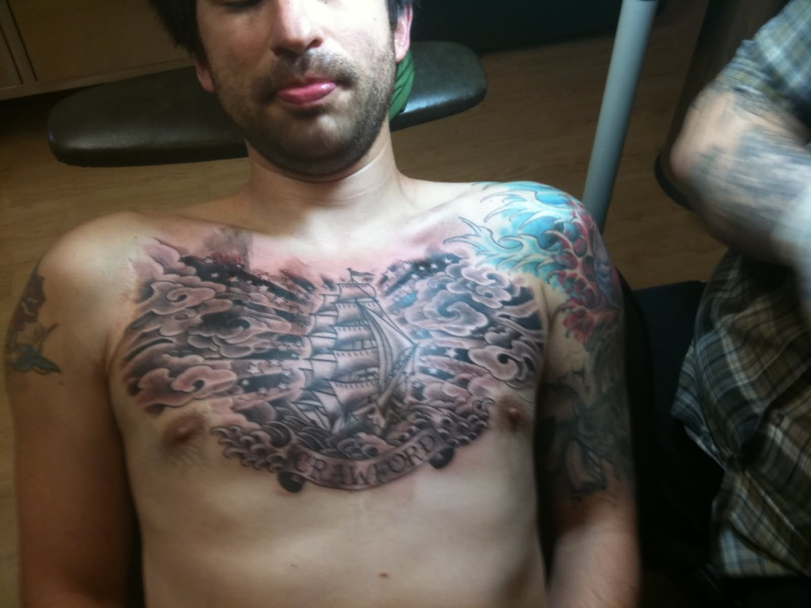 35 Cloud Tattoos On Chest regarding sizing 1600 X 1200