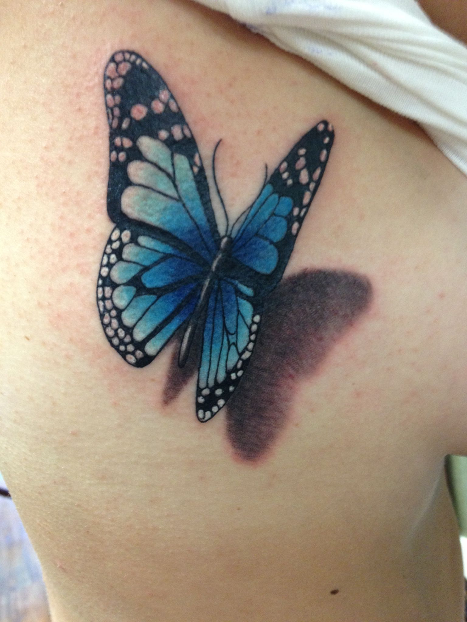 3d Butterfly Tattoo Courtesy Of Chris At Pretty In Ink Roseville Ca within size 1536 X 2048