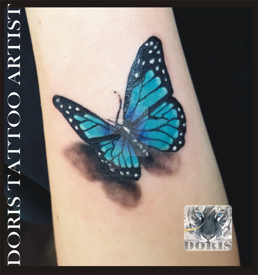 3d Butterfly Tattoo Doristattoo On Deviantart within proportions 866 X 923