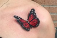 3d Monarch Tattoo On Collar Bone inside size 1080 X 1080
