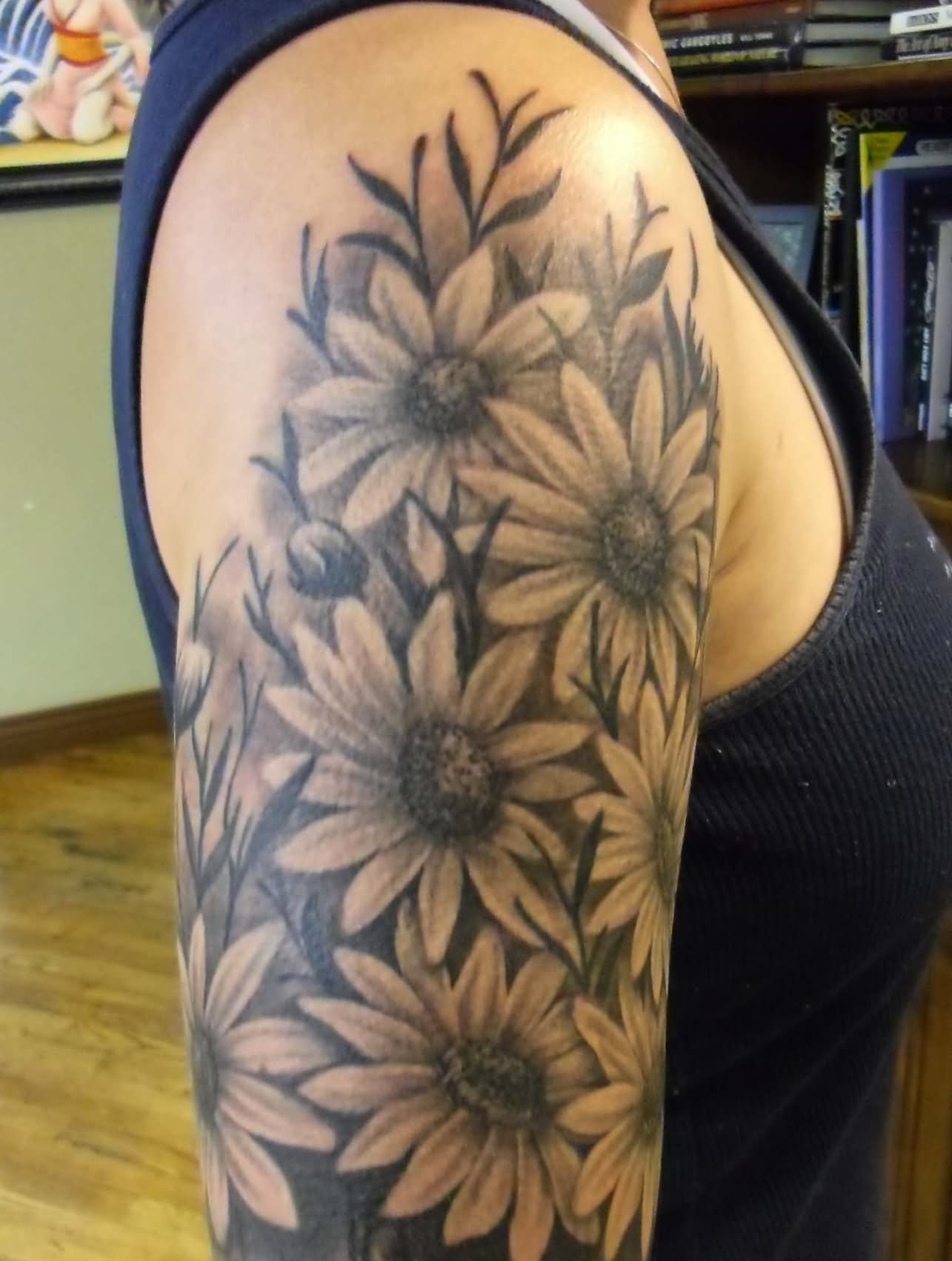 40 Beautiful Daisy Tattoos On Shoulder within measurements 1285 X 1702