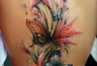 43 Lily With Butterfly Tattoos Ideas within size 736 X 1210