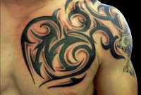 45 Tribal Chest Tattoos For Men intended for measurements 1000 X 1000