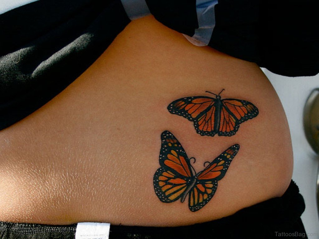 50 Cute Butterfly Tattoos On Waist pertaining to proportions 1024 X 768