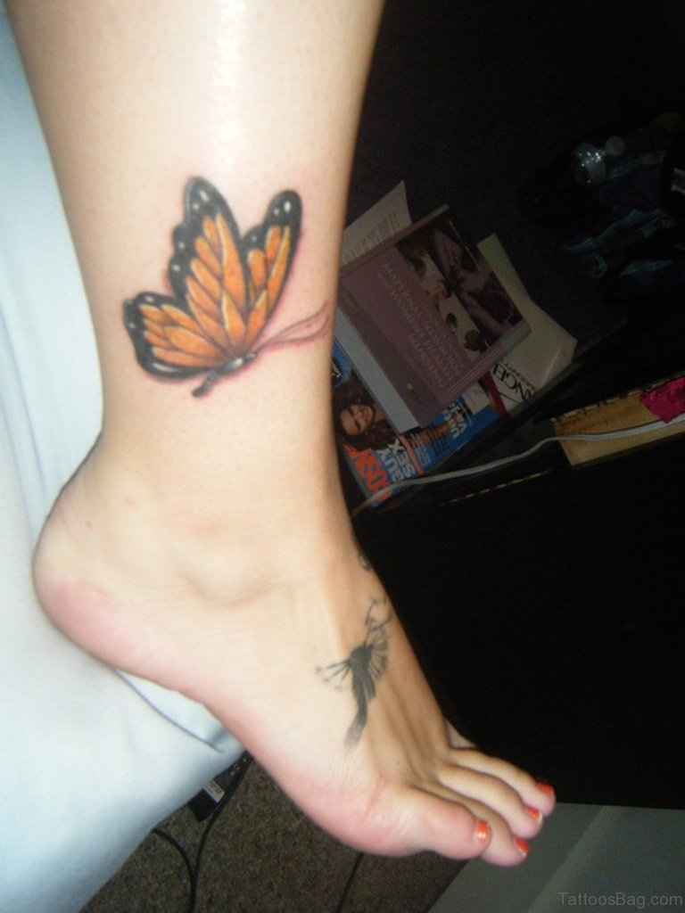 50 Fabulous Butterfly Tattoos On Ankle throughout proportions 768 X 1024