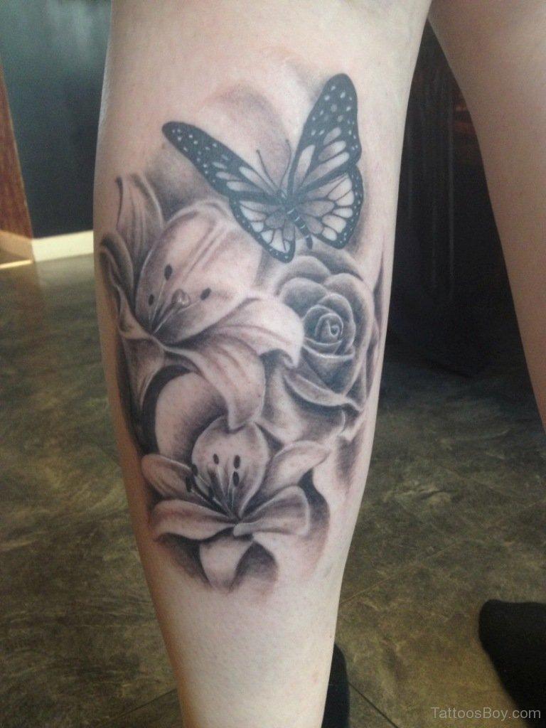 55 Butterfly Flower Tattoos inside measurements 768 X 1024