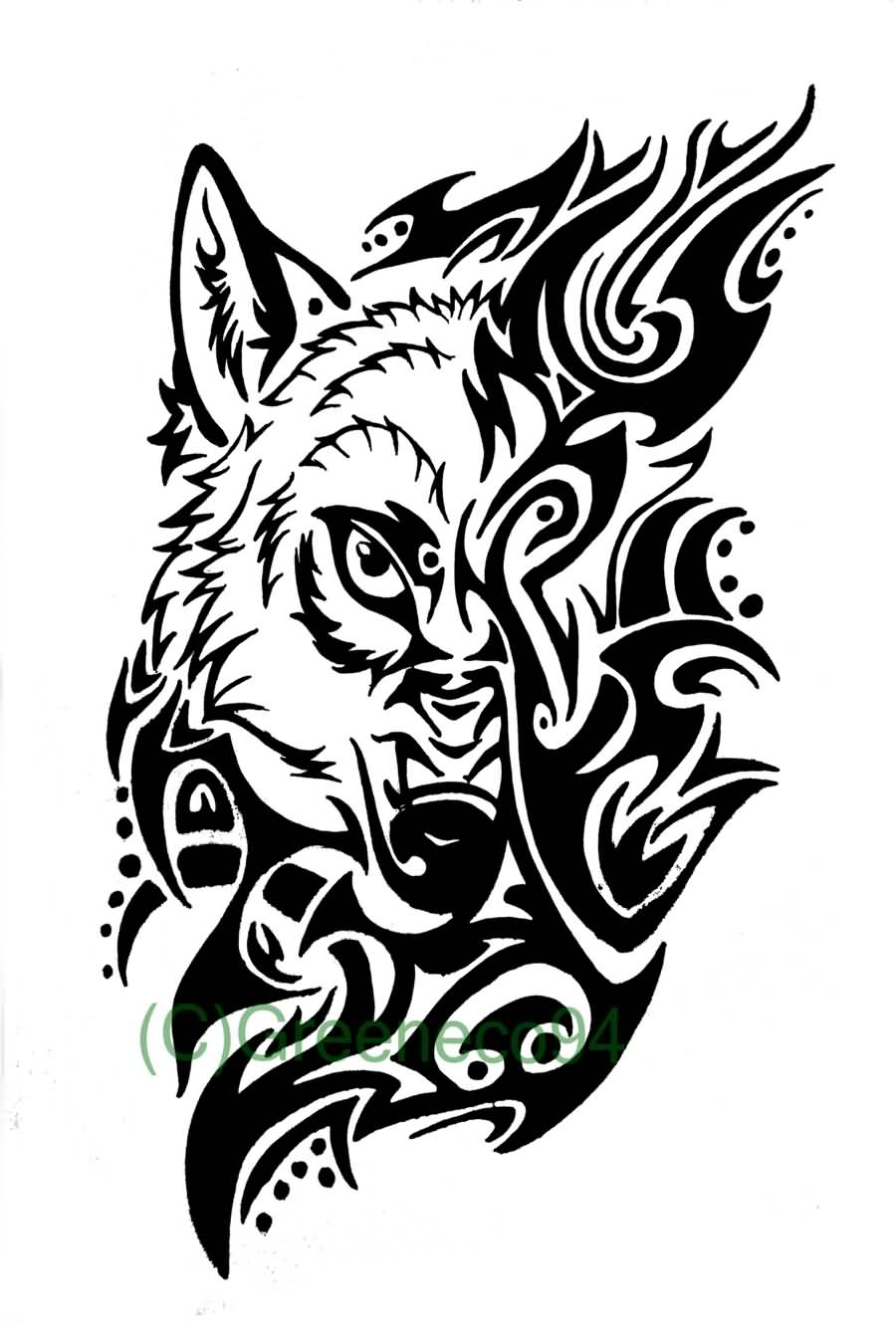 60 Tribal Wolf Tattoos Designs And Ideas intended for dimensions 900 X 1350
