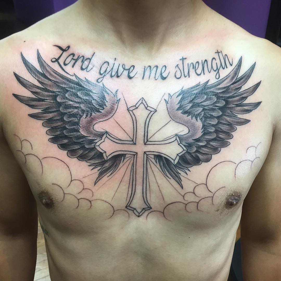 65 Best Angel Wings Tattoos Designs Meanings Top Ideas 2019 with regard to size 1080 X 1080