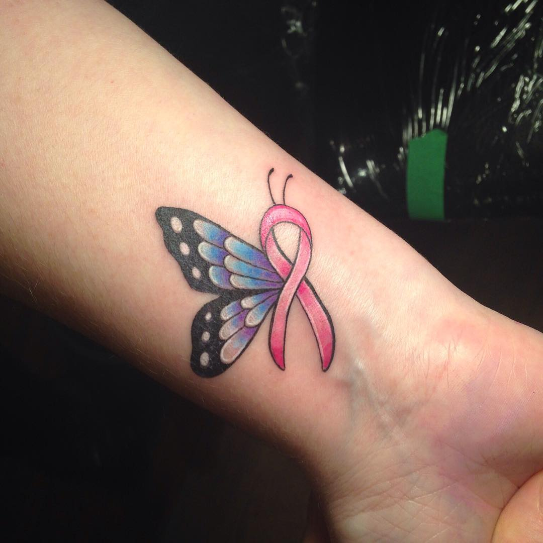Butterfly Breast Cancer Ribbon Tattoo Arm Tattoo Sites