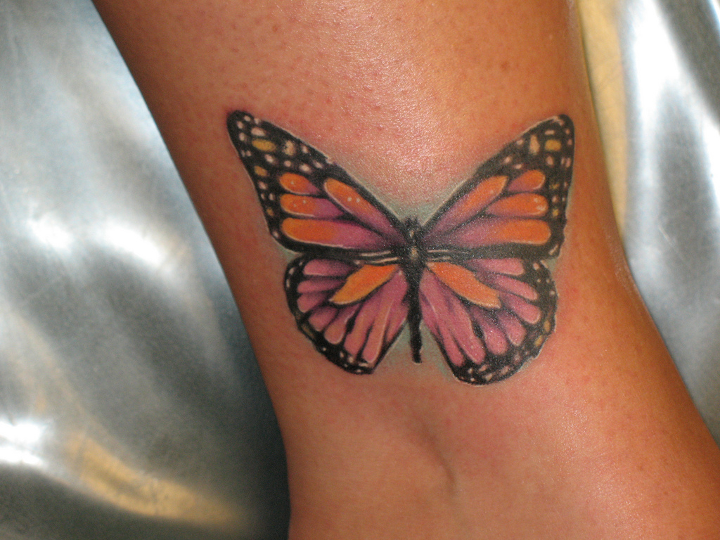 67 Butterfly Tattoos On Ankle in sizing 1024 X 768