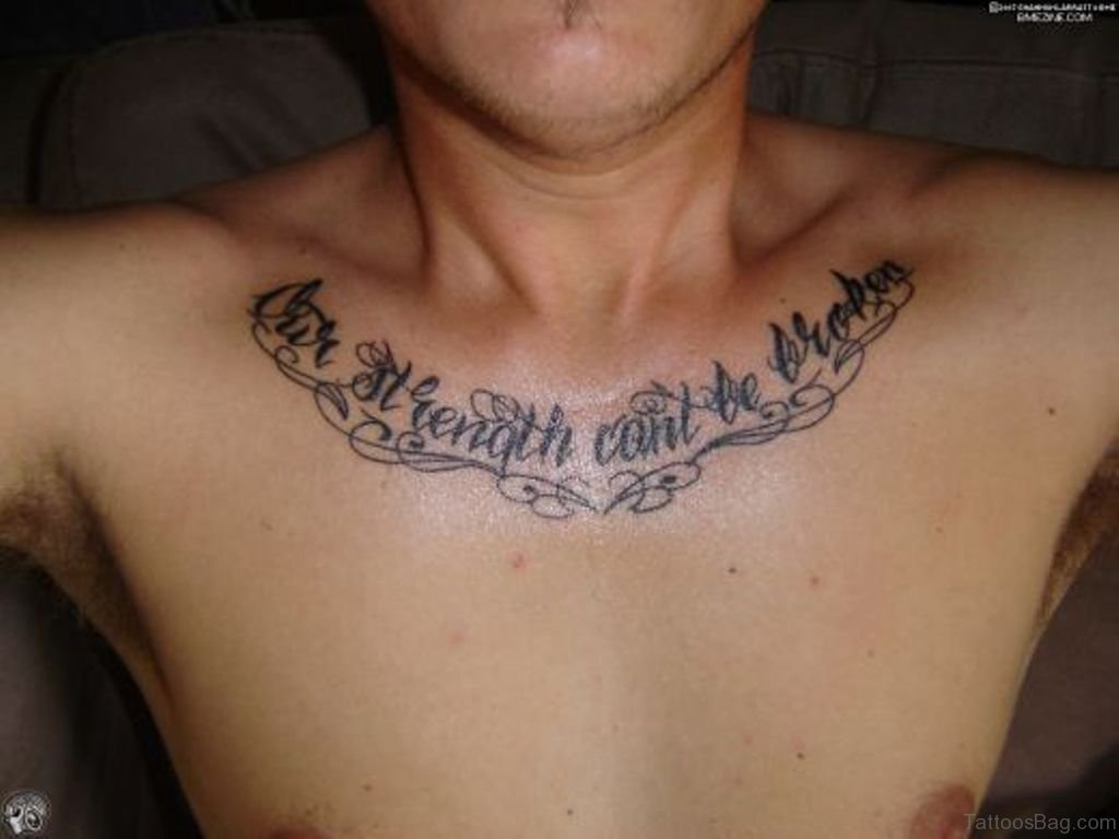 70 Alluring Wording Tattoo On Chest throughout sizing 1024 X 768